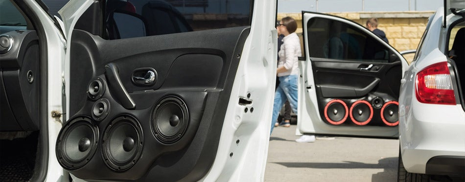 audio speakers and subwoofe