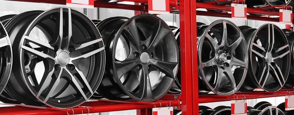 Shelves with alloy wheels