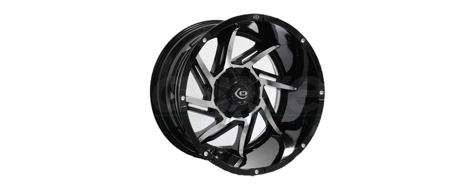 Vision Prowler Gloss Black Machined Face Wheel