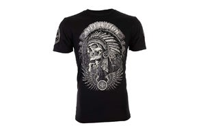 Affliction Men's T-Shirt THUNDERFOOT Indian Black Motorcycle Biker