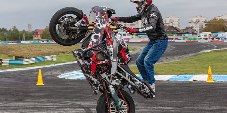 Modified Ducati Monster during a competition