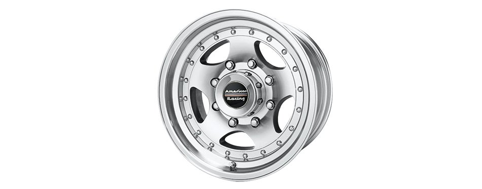 American Racing Custom Machined Wheel with Clearcoat