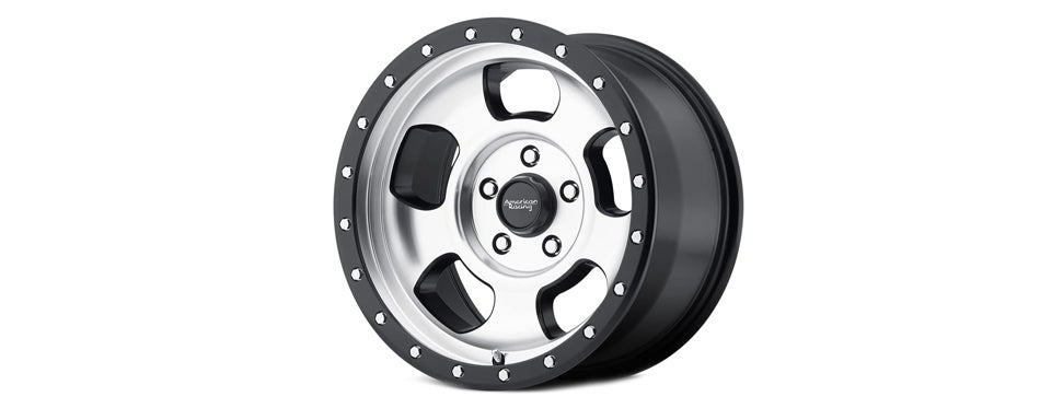 American Racing Off Road Wheel with Machined Finish