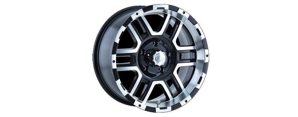 Ion Alloy 179 Black Wheel with Machined Face and Lip