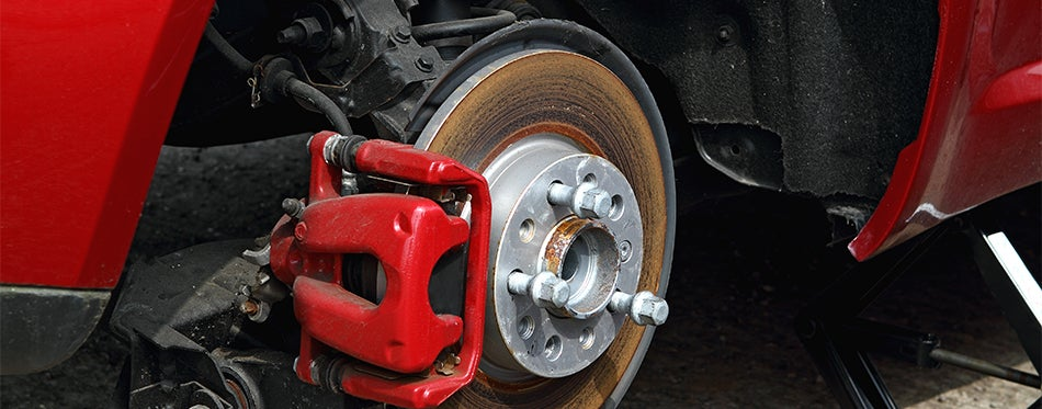 Red aftermarket brake calipers