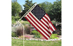 White 'Made in the USA' PVC Flagpole 00