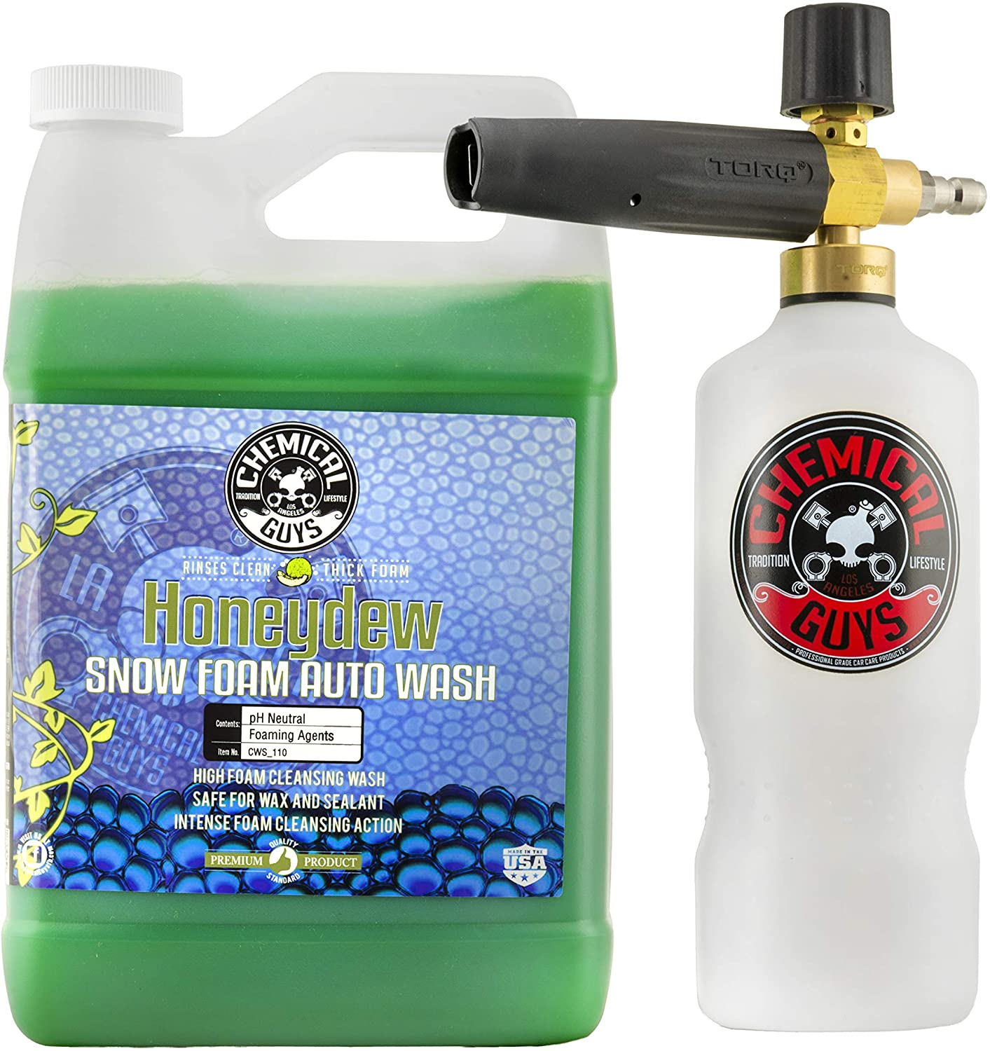 Chemical Guys Foam Cannon & Honeydew Snow Cleanser