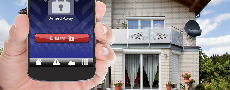 Driveway with smartphone controlled long range alarm