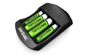 Rayovac AA & AAA Rechargeable Batteries with Battery Charger