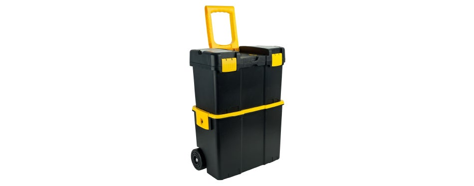 Stalwart Stackable Mobile Tool Box with Wheels