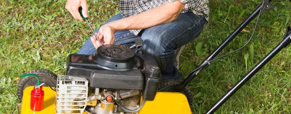 Preparing Lawn Mower Oil Change