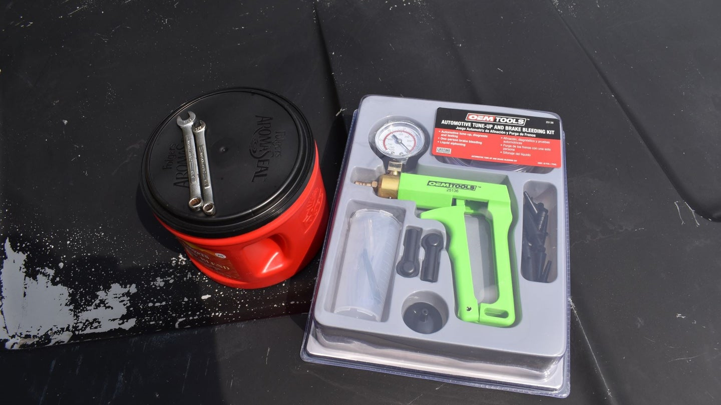 Tools for bleeding brakes by yourself.