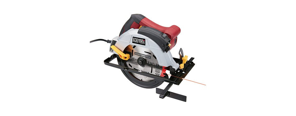 Chicago Electric Circular Saw With Laser Guide System
