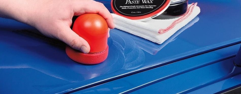 Cleaning car with paste wax