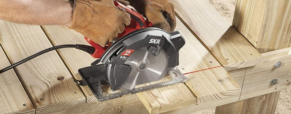 Cutting Wood With Circular Saw