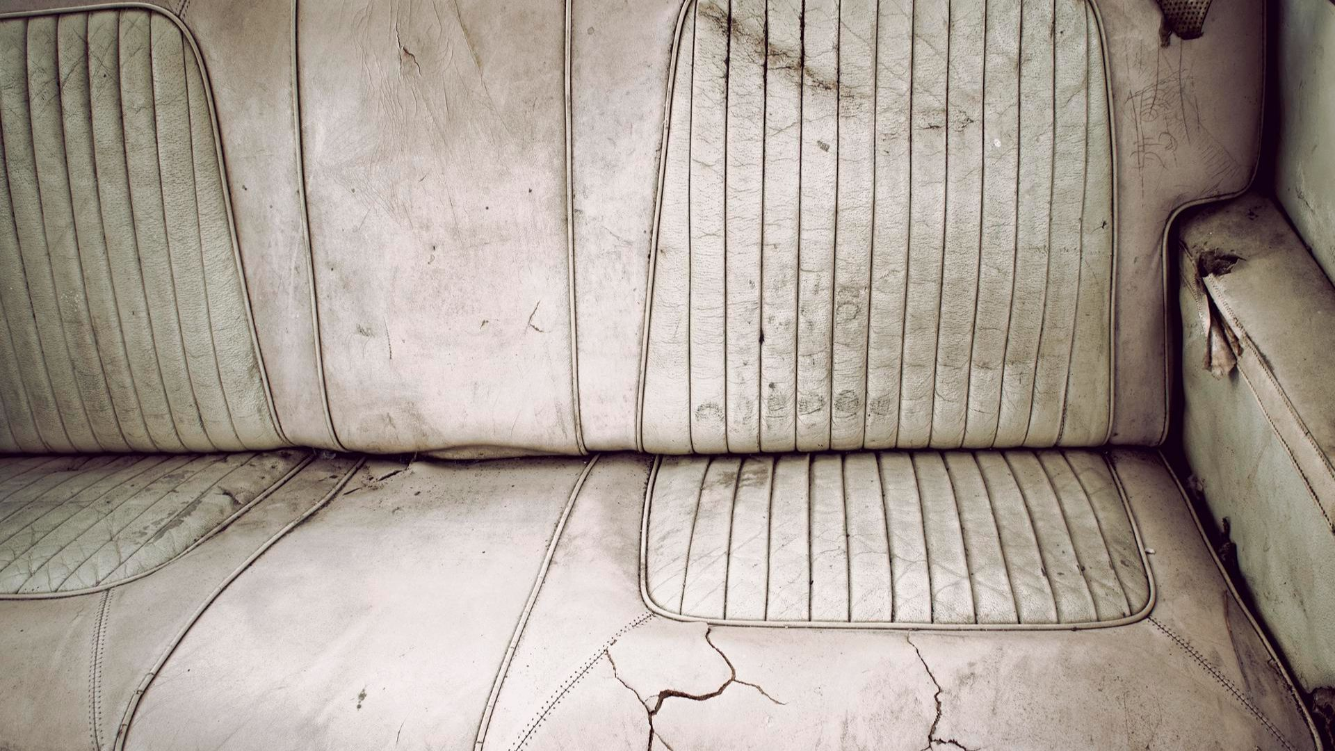 Cracked leather seats.