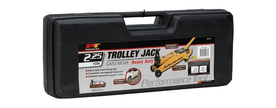 Performance Tool Trolley Jack with Case