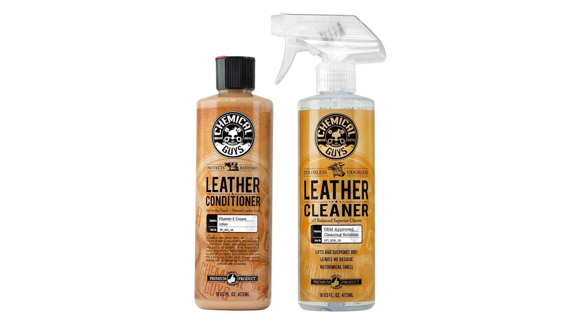 Chemical Guys SPI_109_16 Leather Cleaner and Leather Conditioner Kit