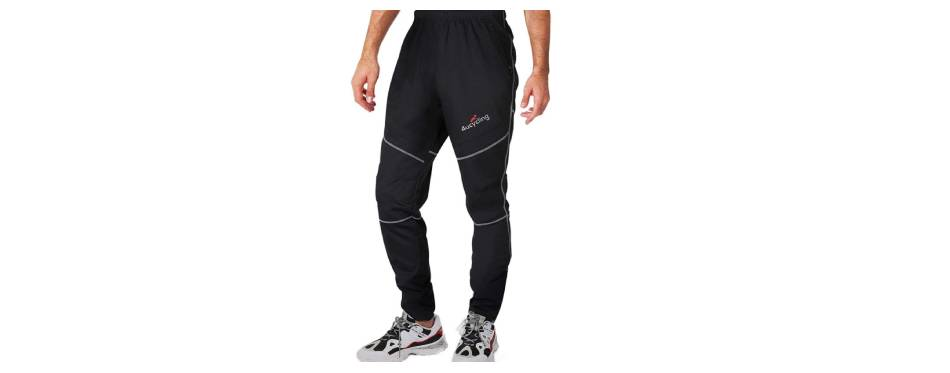 4ucycling Mens Fleeced Windstopper Cycling Pants
