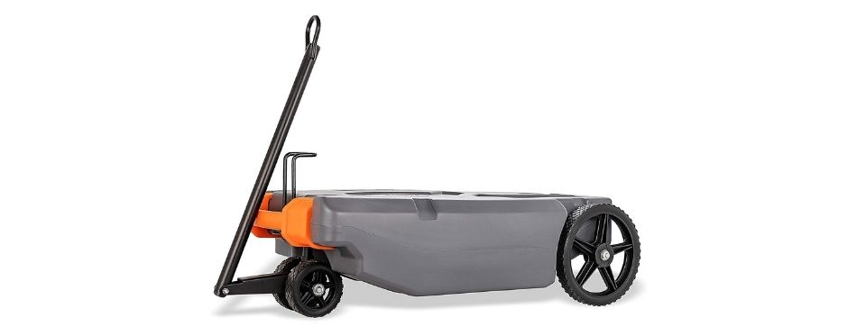 Camco RV Rhino Heavy Duty 28 Gallon Portable Waste Holding Tank with Steerable Wheels