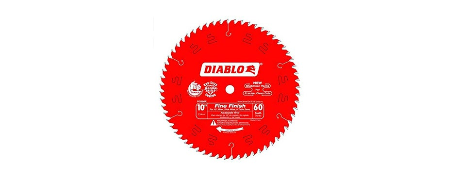 Diabo by Freud D1060X 10-Inch 60 Tooth Fine Finish Saw Blade