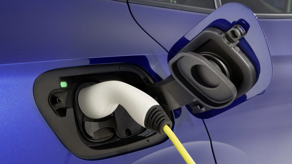 A plug for an electric vehicle.