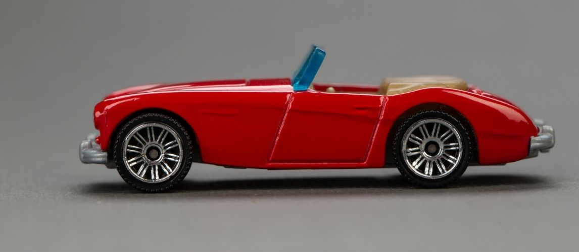 Red diecast car