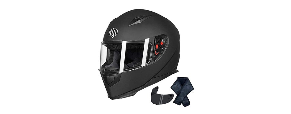 ILM Full Face Helmet with Removable Neck Scarf
