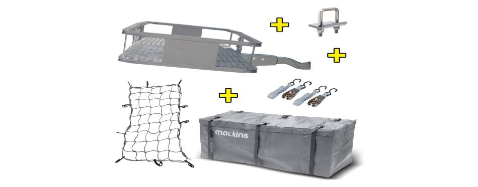 Mockins Gray Hitch Mount Cargo Carrier