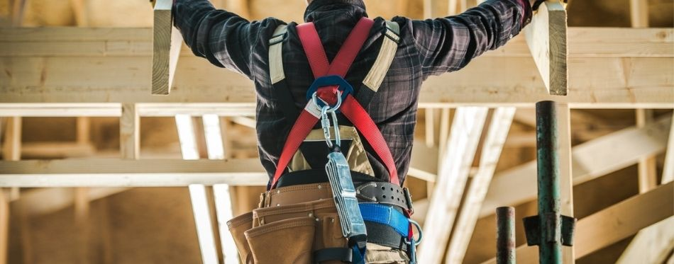 Man With Safety Harness