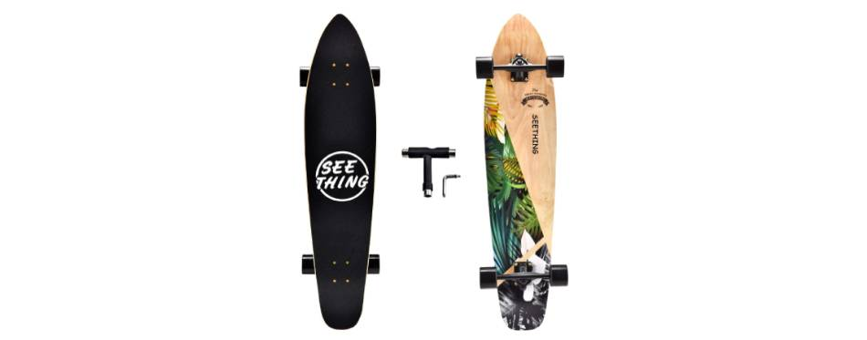 Seething Longboard Complete Cruiser Pintail