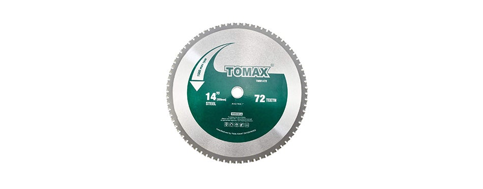 Tomax TMM1472 14-Inch 72 Tooth Industrial Level Steel and Ferrous Metal Saw Blade 1