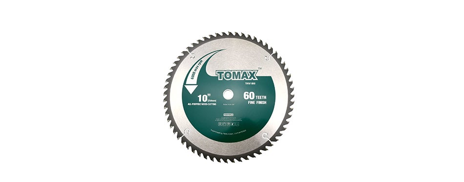 Tomax TMW1060 10-Inch 60 Tooth ATB Fine Finish Saw Blade