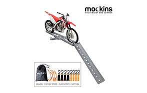 Mockins Gray Hitch Mounted Motorcycle Carrier