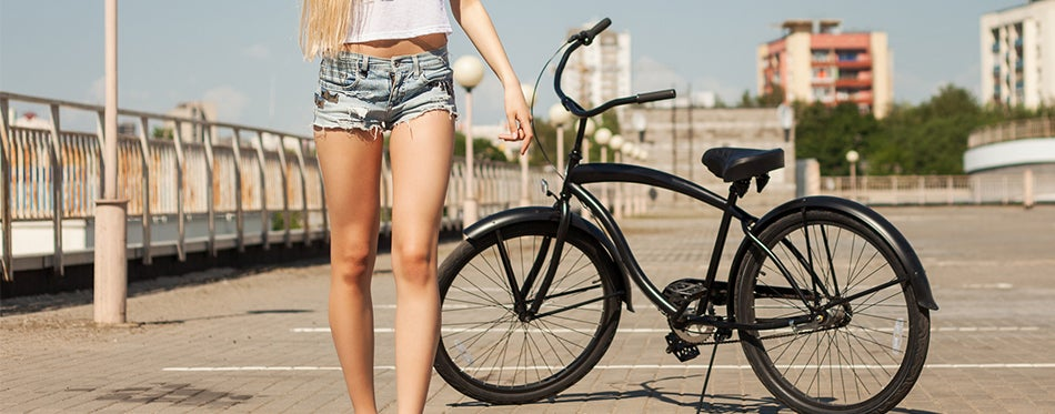YOUNG LADY TAKING A RIDE WITH best women's beach cruiser
