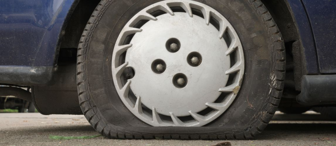 Here's Why You Shouldn't Drive on a Flat Tire