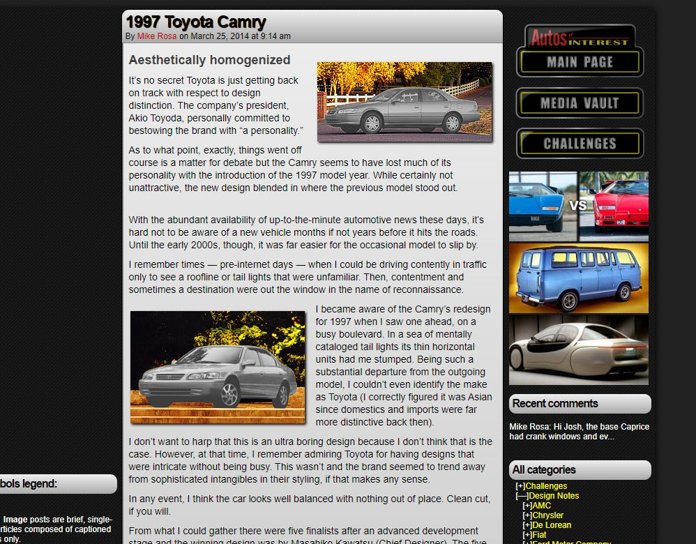 Autos of Interest Was a Great Car Site That Seems To Have Been Wiped From the Internet