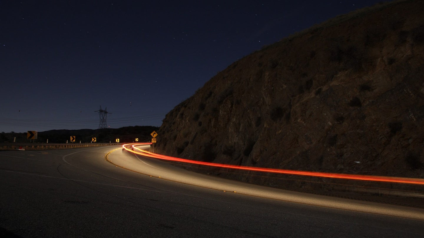 long exposure of godde hill road in palmdale ca