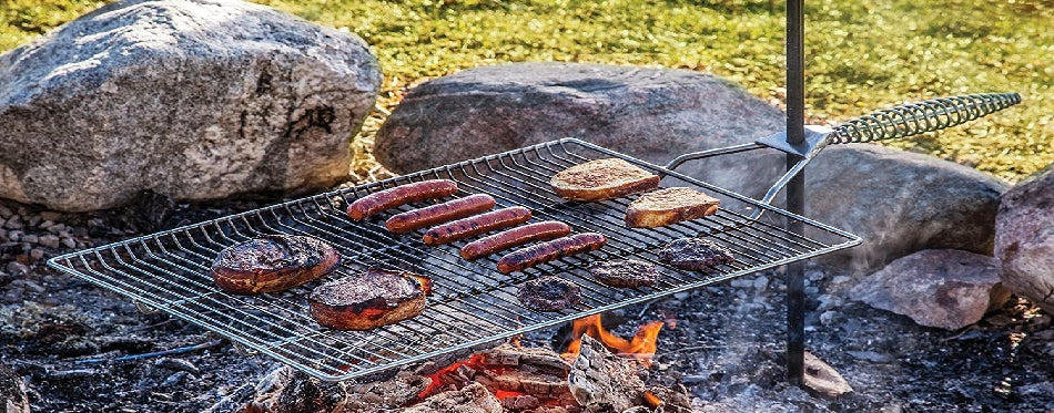 Grilling a food outdoor