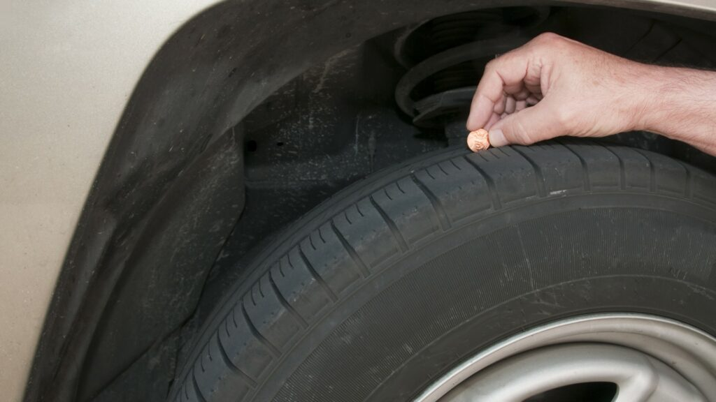 Check your tread depth with a penny.