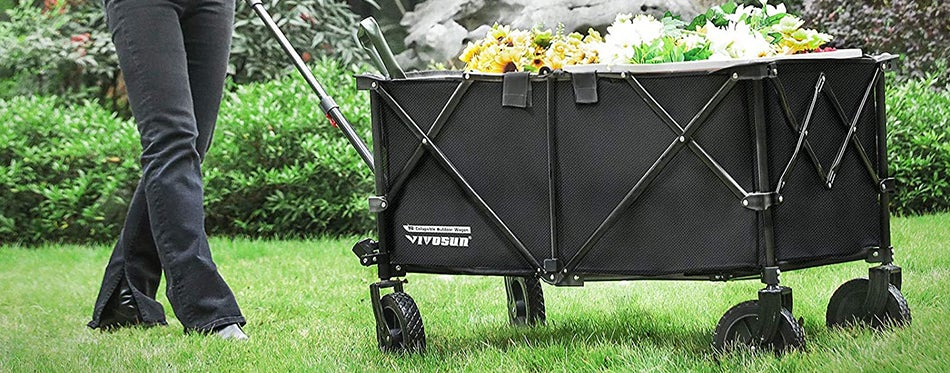 using best collapsible wagons to work in the garden