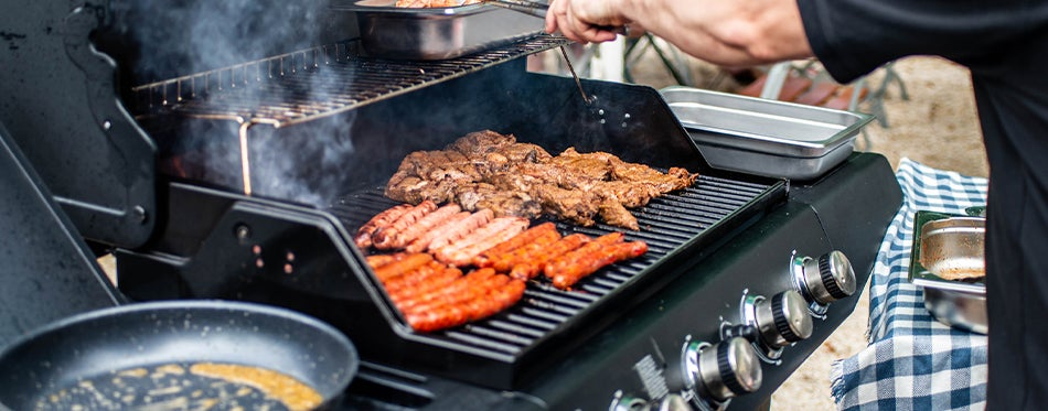 Natural gas grills barbeque