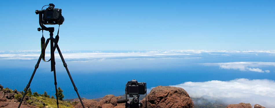 using Carbon fiber tripods to catch panoramic photo