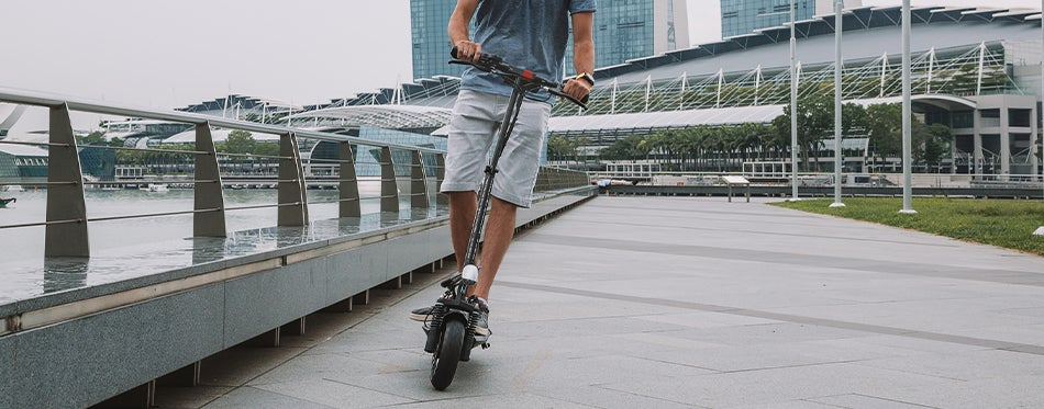 using the best scooter for adults for a ride