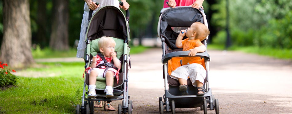 two women using the best jogger strollers for their babies