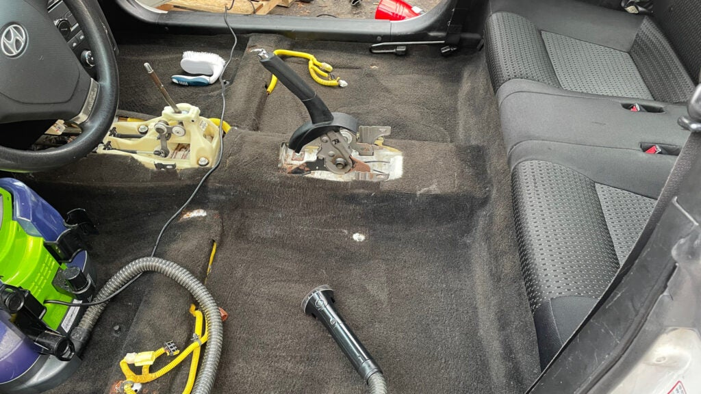 Don't Be Afraid to Dismantle Part of Your Car Interior to Really Get It Deep Cleaned