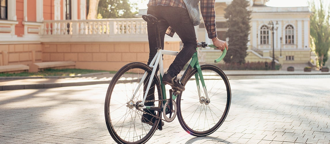 riding the best fixie wheels bicycle