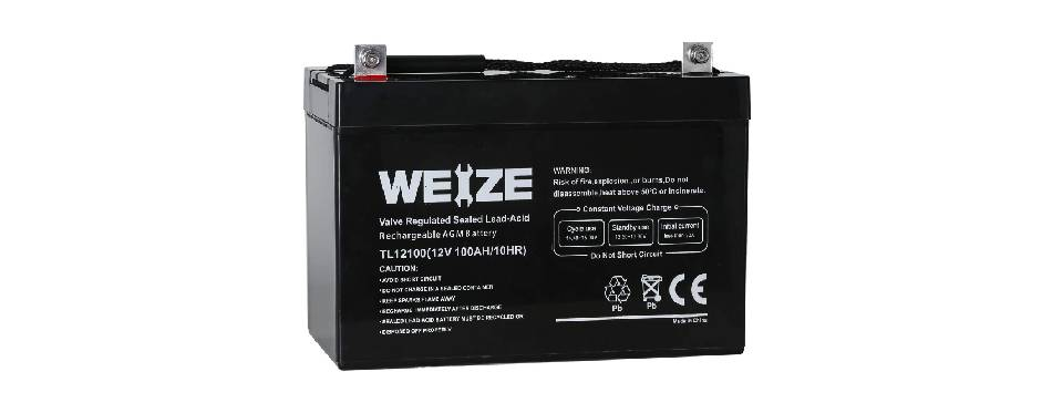 Weize 12V Deep Cycle Battery for RV Camping