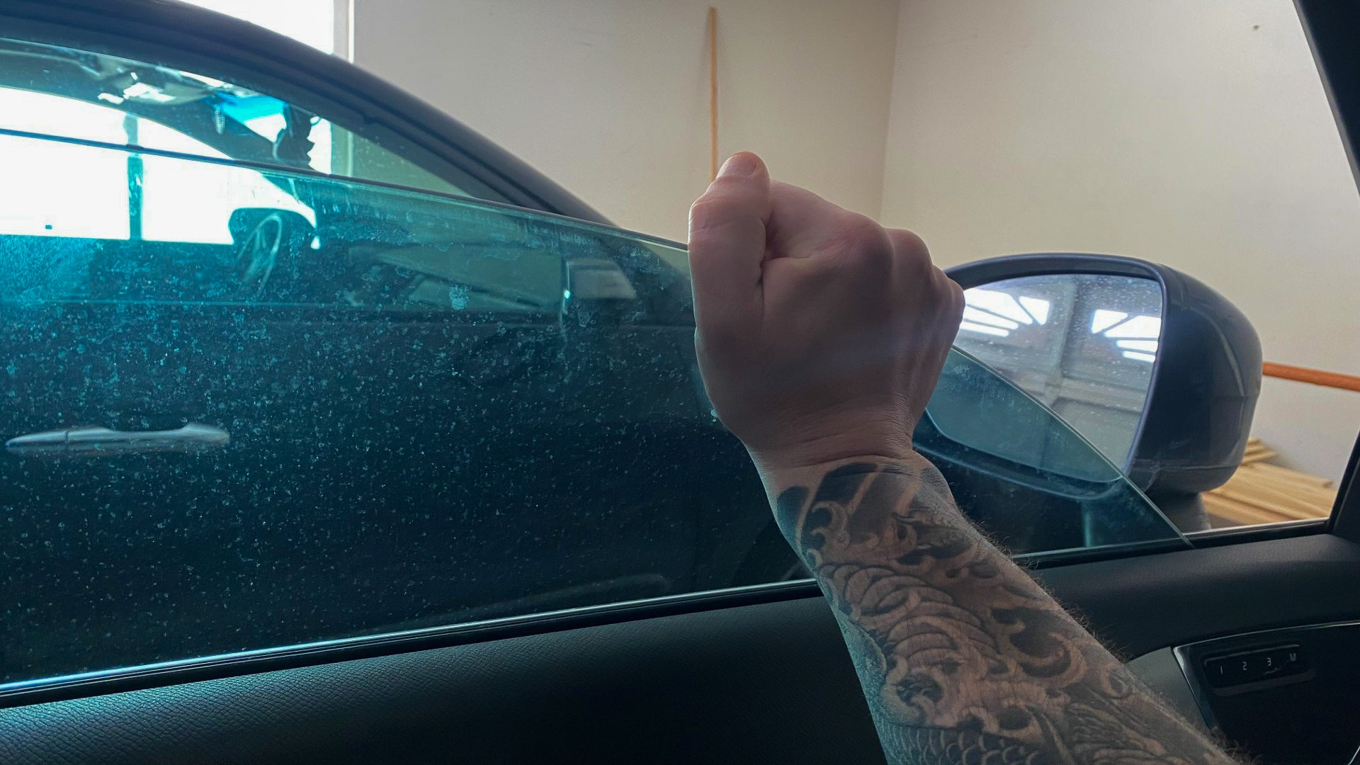 Trying to pull up a stuck window.