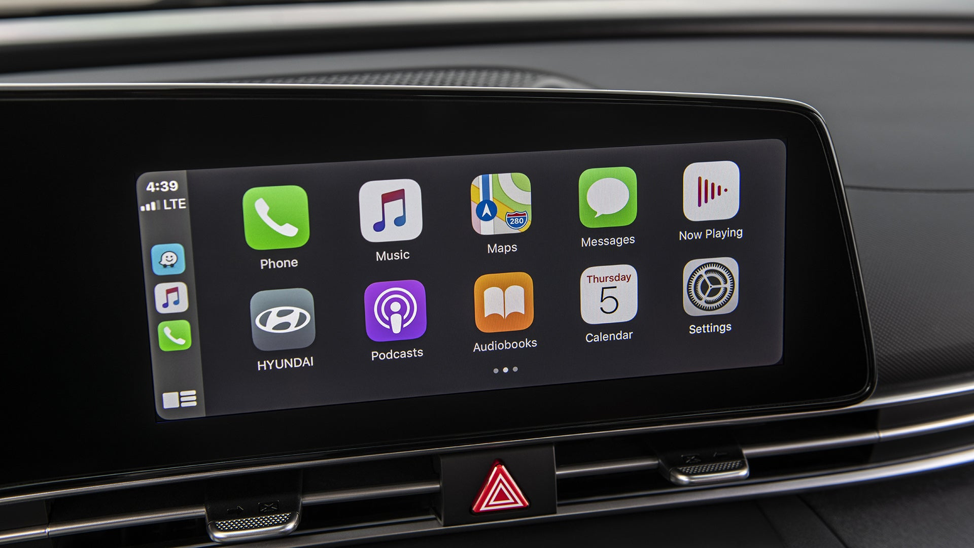 An Apple CarPlay display in a Hyundai Elantra.